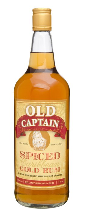 Old Captain Spiced Gold Rum 1000ml